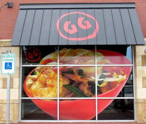 custom attractive awning sign